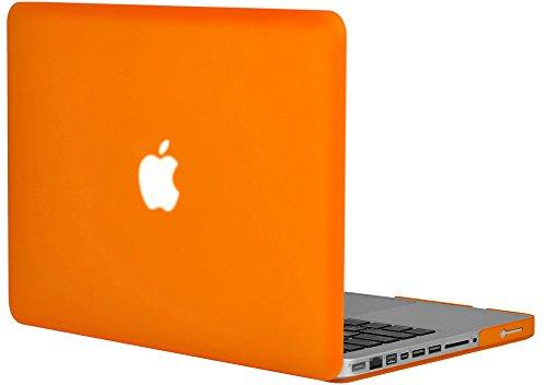 'Topideal Mat Effet givré toucher satin Coque rigide pour MacBook Pro 39,1 cm (modèle : A1286) Orange - orange