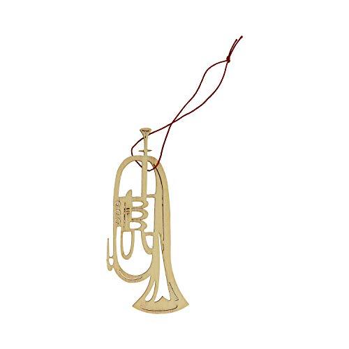 mugesh Anhänger Flügelhorn Pappelholz - Schönes Geschenk für Musiker