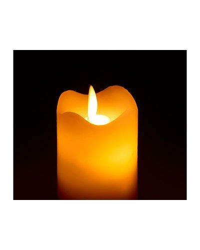 Britesta Cera velas: Vela con beweglicher Llama LED y mando a distancia, M (velas decorativas)