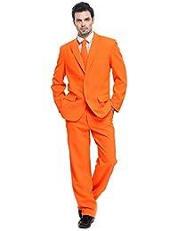 f55f442ff9c0e Traje de Hombre 3 Piezas Regular Fit con Chaqueta Pantalones y Corbata  Fiesta de Disfraces de