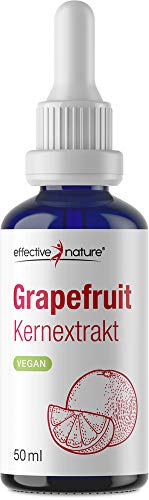 effective nature Grapefruitkernextrakt, aus gemahlenen Grapefruit-Kernen, zur Anwendung bei Pilzbefall & Entzündungen, hoher Anteil an Vitamin C zur Unterstützung des Immunsystems, 50 ml mit Pipette