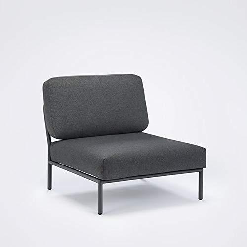 mds Salon de Jardin Level à Composer, de Haute qualité, canapé, Pouf et Table Basse - Module canapé, Chaise Lounge : 81 x 81 cm - 98 Gris foncé/Basic