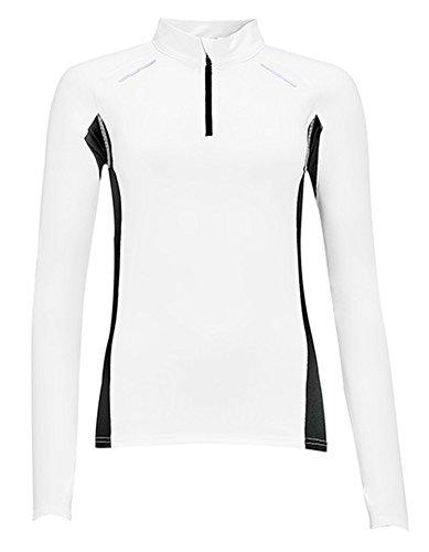 Women's T-shirt manches longues pour running Berlin Blanc