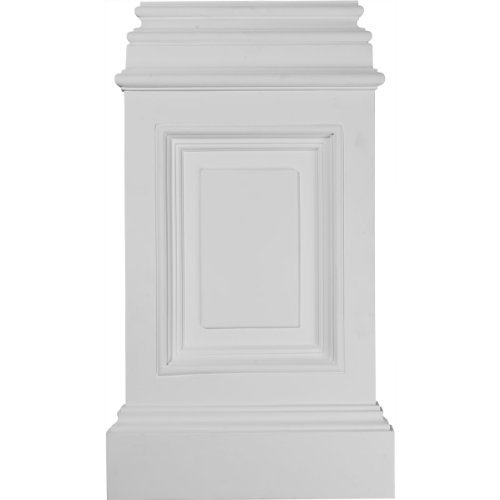 Pedestal Base (Ekena Millwork BAS14X24X02CL 14 3/8-Inch W x 2 1/2-Inch D x 24 3/4-Inch H Classic Large Pedestal Base by Ekena Millwork)