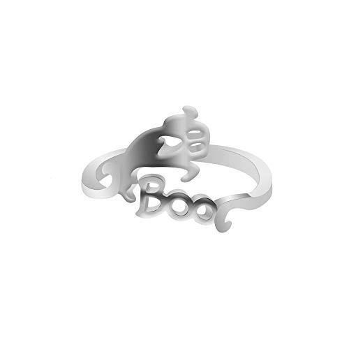 Yazidan Halloween Ring Nette Halloween Geist Hexe Besen Fingerring Offene Ringe Partei Cosplay Schmuck Goldkette Kette juwelier Armbanduhr Diamant trauringe Ohrringe schmuck ()