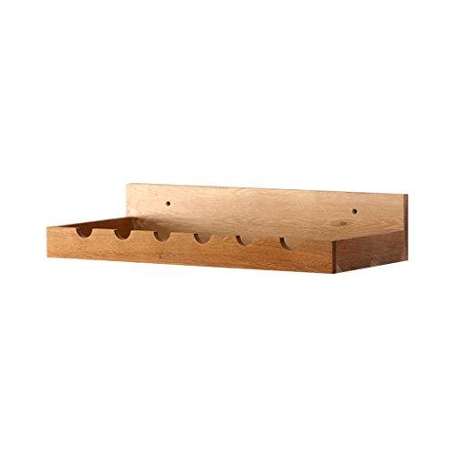 Büroschränke & -ablagen Wandbehang Massivholz Weinregal Multi-Funktions-Regal langlebig Umweltschutz Rollcontainer (Size : 60 * 26.7 * 12 cm)