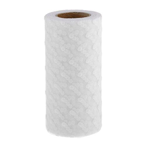 25yd-rollo-tul-carrete-flocado-de-lunares-adorno-hogar-fiesta-boda-bricolaje-blanco