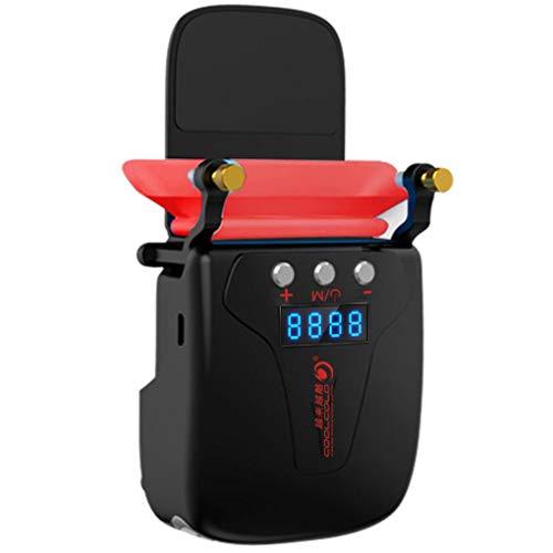 CZWNB Laptop-Lüfterkühler mit Temperaturanzeige, Schnelle Kühlung, Auto-Temp Detection, Perfekt für Gaming-Laptop, Computer-Kühler für Auspuffanlagen, Nintendo-Schalter,Black