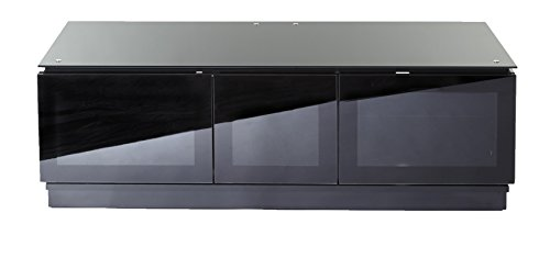 Premium Universal TV Cabinet| Elegant Gloss Black Finish| Perfect For LED, LCD, PLASMA, 4K, Flat Screen TVs| Up To 55