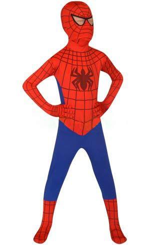 FYBR Kinder Spider-Man SuperSkin Kostüm - Kinder Unisex Jungen & Mädchen Einteiler, Zentai Tier Cosplay Outfit Halloween Kleidung Lycra Spandex, Größe S (Spiderman Kostüm Jungen)
