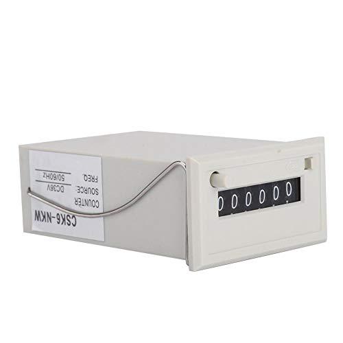 Elektromagnetischer Zähler, CSK6-NKW 6-stelliger elektronischer Impulszähler DC 36V (Clicker Für Die Zählung)