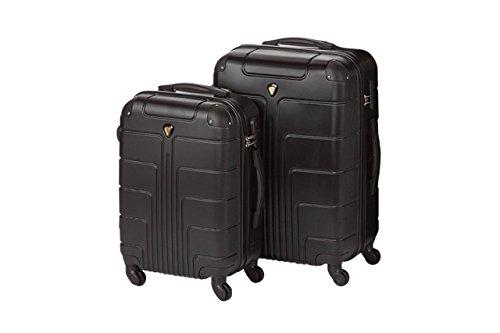 Hartschale Kofferset New York 2-teilig Gr. M+XL, 56+75cm, 42+110 Liter 7 verschiedene Farben (schwarz)