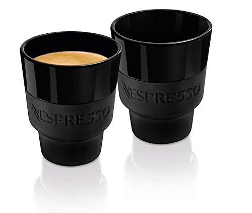 Nespresso Touch Lungo Cup 2x Porzellan Cups mit Silikonhülle Schwarz