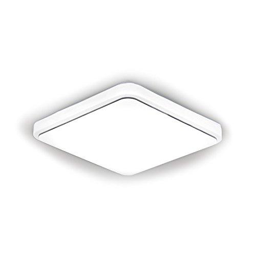 LED-Deckenleuchten Lampe Quadrat Gold Silber Linie weiß LED Deckenleuchten Lampe, Silber Linie, 22X22CM (Weißes Quadrat Bin)