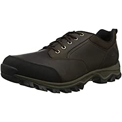 Timberland Keele Ridge Waterproof Leather Low, Zapatos de Cordones Oxford para Hombre, Marrón (Brown Mo2), 44.5 EU