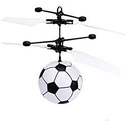RC Flying Ball, Colorful Flying RC Juguetes para niños RC Flying Ball Helicóptero de Juguete Cristal Parpadeante Luz LED Flying Ball Mini Drone Magic RC Flying Toys para niños (Fútbol)