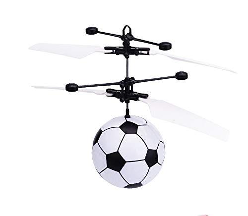 Hebey RC Fliegende Kugel, Buntes Fliegen RC Kinderspielzeug RC Fliegende Kugel Hubschrauber Spielzeug Kristall LED Licht Fliegende Kugel Mini Drohne für Kinder Jugendliche Erwachsene (Fußball)