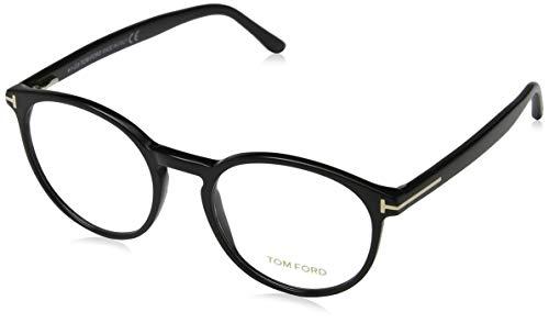 Tom Ford Unisex-Erwachsene Ft5524 Brillengestelle, Schwarz (NERO LUCIDO), 51
