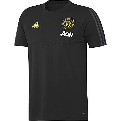 adidas Herren MUFC Tee T-Shirt, Black/Solid Grey, XL -