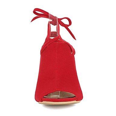 LvYuan Da donna-Sandali-Matrimonio Formale Serata e festa-Comoda Cinturino alla caviglia Club Shoes-A stiletto-Felpato-Nero Blu Rosso Blue