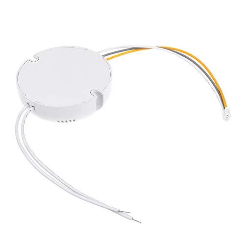 Paquete incluido: 1 x fuente de alimentación del controlador LED Funciones: Potencia: 8-24W, 24-36W, (12-24W) x2, (24-40W) x2 Voltaje de entrada: AC 185-265V, 50/60Hz Voltaje de salida, 25-80V, 80-130V, 24-84V, 80-140V Forma: redondo Corriente const...
