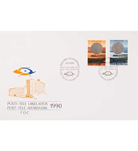 Goldhahn Finnland Nr. 1098-1099 FDC Ersttagsbrief Post- und Fernmeldewesen Briefmarken für Sammler