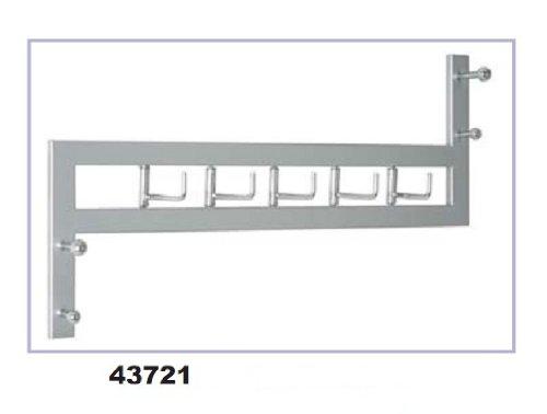 HAKU Möbel 43721 Garderobenleiste 60 x 11 x 36 cm, alu / chrom