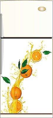 stickersnews-Sticker Kühlschrank orange Deko Küche 60x 90cm ref 219