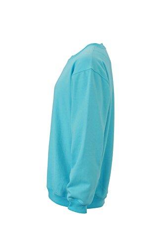 James & Nicholson Herren Round-Sweat Heavy Sweatshirt Blau (Pacific)