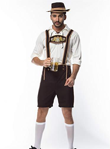 splay Bier Festival Kleidung männlich Sexy Gala Arena Performance Kleidung, Weiß, l ()