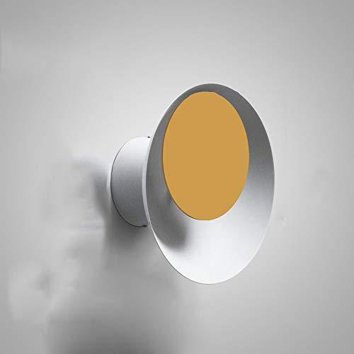 Nordique moderne rond lampe de salon créatif salon escalier allée chambre chevet macarons lampe de lumière de lune (Couleur : Jaune)