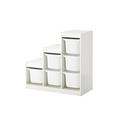 Ikea TROFAST–combinación de almacenaje con Cajas £63–100x 44x 94cm