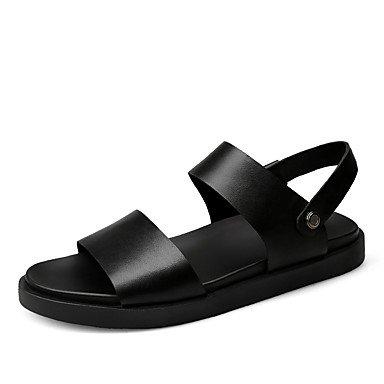 Herren Sandalen Komfort im Sommer PU Casual Braun Schwarz Black