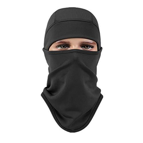 Aegend Dunkelgraues Sturmhaube-Polyester-Fleece-Ski-Gesichtsmaske für Damen Herren Jugend Tactical Sturmhaube für Motorrad-Snowboard im Freien im Winter Halswärmer oder leichter winddichter Hut
