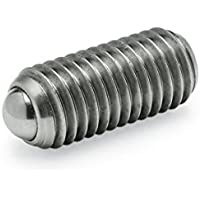 Ganter Normelemente GN 615.3-M4-KN GN 615.3-M4-KN-Federnde Druckstücke mit Innensechskant, Silber, Gewinde d1: M4, 5 Stück
