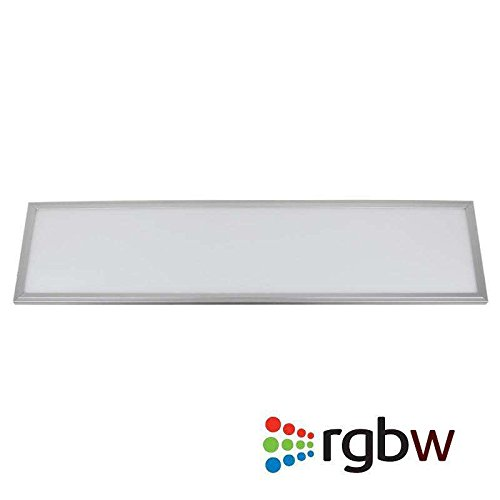Panel LED 48W, RGB + Blanco Frío CW (6000K), RF, 30x120cm, Regulable