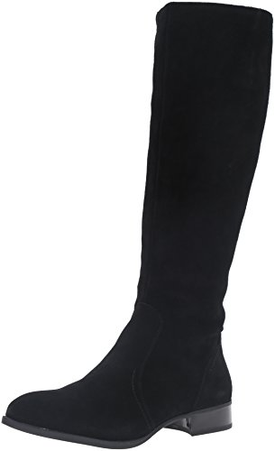 Nine West Women's Nicolah Suede Knee-High Boot, Black, 11 M US (Boots West High Knee Nine)