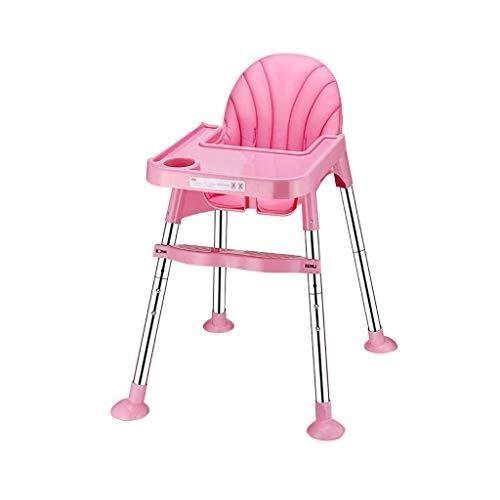 YDHYYDQCFJL Kinderhochstuhl - Baby Esszimmerstuhl Verstellbarer Kinderhochstuhl Fütterung Abnehmbarer Serviertablett Tragbar