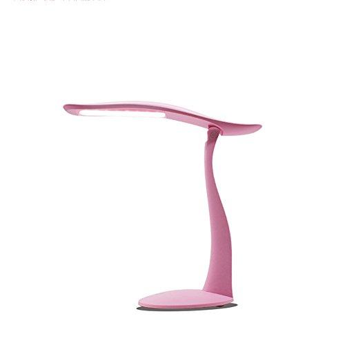 LED-Tischleuchte dimmbar, Augenpflege, Touch Control Faltbüro Schlafzimmer Leselicht, [Energieklasse A +](Pink)