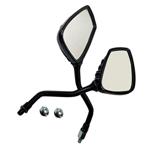 Left Right Universal Motorcycle Chrome Skeleton Skull Side Rear View Mirror Black