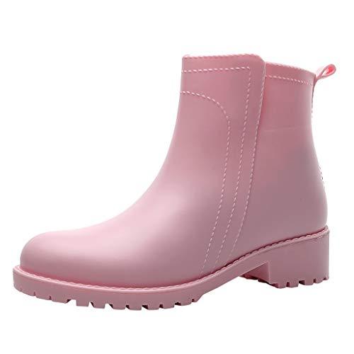 serliyChelsea Regen Stiefel Damen Kurze Röhre tragen rutschfeste Wasserschuhe wasserdicht Regen Stiefel Erwachsene Überschuhe rutschfeste Regenstiefel Outdoor Wasserschuhe