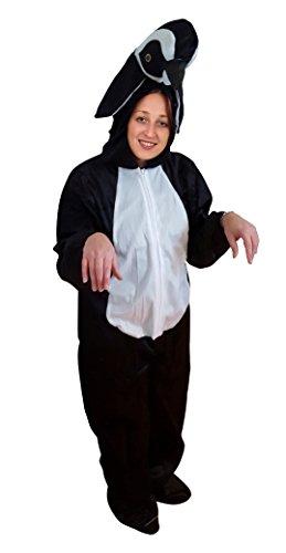 Seruna Pinguin-Kostüm, AN76/00 Gr. M-L, Fasnachts-Kostüme Tier-Kostüme, Pinguin-Kostüme Pinguine als Faschings- Karnevals Fasnachts-Geschenk für Erwachsene