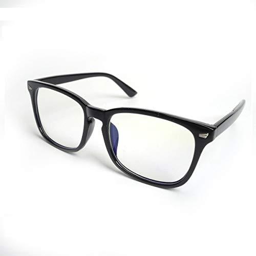 HOUSON Computer Gläser Anti Blaulicht Schutzbrille Gaming Brille Anti-Blendschutz, Anti-Reflektierend, Anti- Ermüdung blockierung uv Brillen kopfschmerzen, Anti augenbelastung (Transparent Linse)