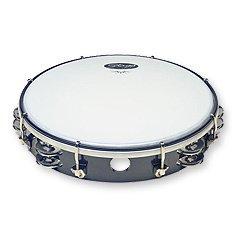 "Stagg TAB-210P/BK 10"" Tunable plastic Tambourine, 2 rows - Black"