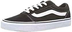 Vans Damen Ward Suede/Canvas Sneaker, Schwarz Black/White Iju, 36 EU