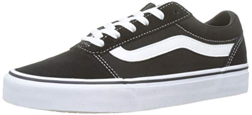 Vans Damen Ward Suede/Canvas Sneaker, Schwarz Black/White Iju, 38 EU