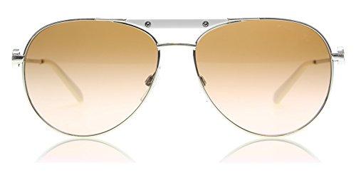 Michael Kors Damen Zanzibar MK5001 Sonnenbrille, Silber-braun verlauf 100113), Large (Herstellergröße: 58)