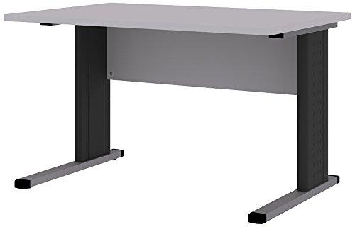 Wellemöbel, Büro Combi+, C-Fuß-Schreibtisch, 120 x 80 cm, Office-Grau