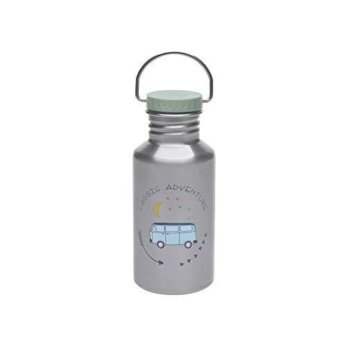 LÄSSIG Adventure Bus Kinder Edelstahl-/ Trinkflasche, Auslaufsicher, BPA-frei/Bottle Stainless Steel, blau