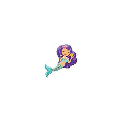 Globo de foil r38 (96,5 cm) sirena